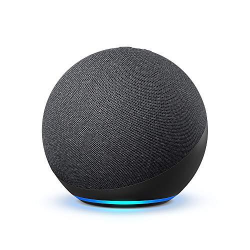 Echo totalmente nuevo (4ª generación) |  Con sonido premium, concentrador de hogar inteligente y Alexa |  Carbón