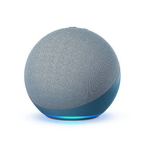 Echo totalmente nuevo (4ª generación) |  Con sonido premium, concentrador de hogar inteligente y Alexa |  Crepúsculo azul