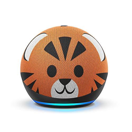 Edición para niños totalmente nueva de Echo Dot (4ª generación) |  Diseñado para niños, con controles parentales |  Tigre