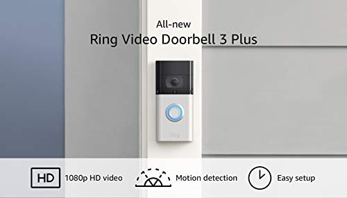 Ring Video Doorbell 3 Plus: wifi mejorado, detección de movimiento mejorada, vistas previas de video de 4 segundos, fácil instalación