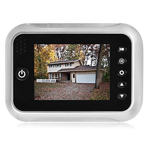 Pantalla LCD TFT de 3,5 'Timbre digital Cámara de seguridad Visor de mirilla de la puerta Cámara de la puerta Visión nocturna Gran angular + Grabación de video + Toma de fotos + Función No molestar (dnd) (Con 1 tarjeta SD de 32GB gratis)