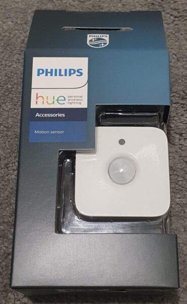 Mi sensor de movimiento Philips Hue en su caja