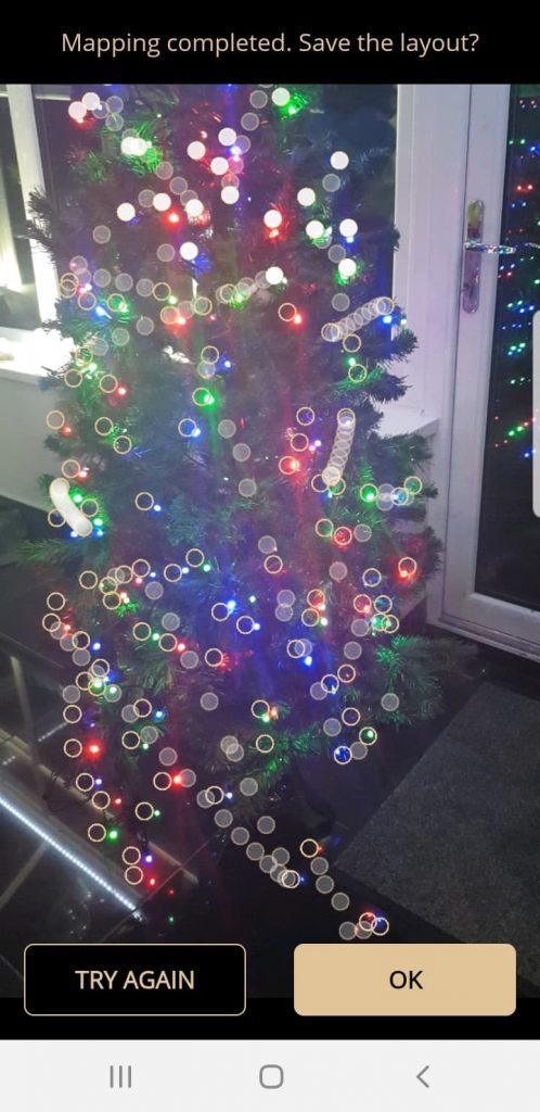 Revisión de las luces del árbol de Navidad Twinkly