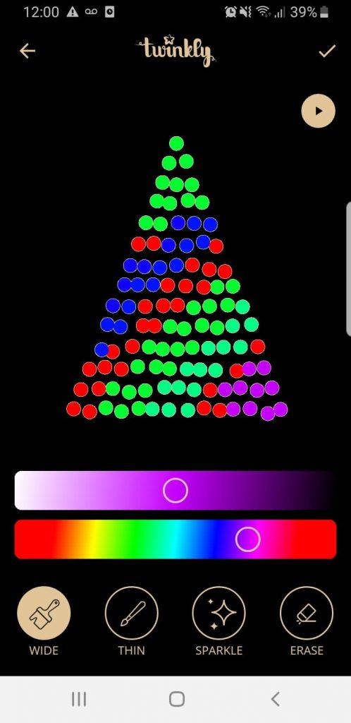 Luces de Navidad Twinkly personalizadas