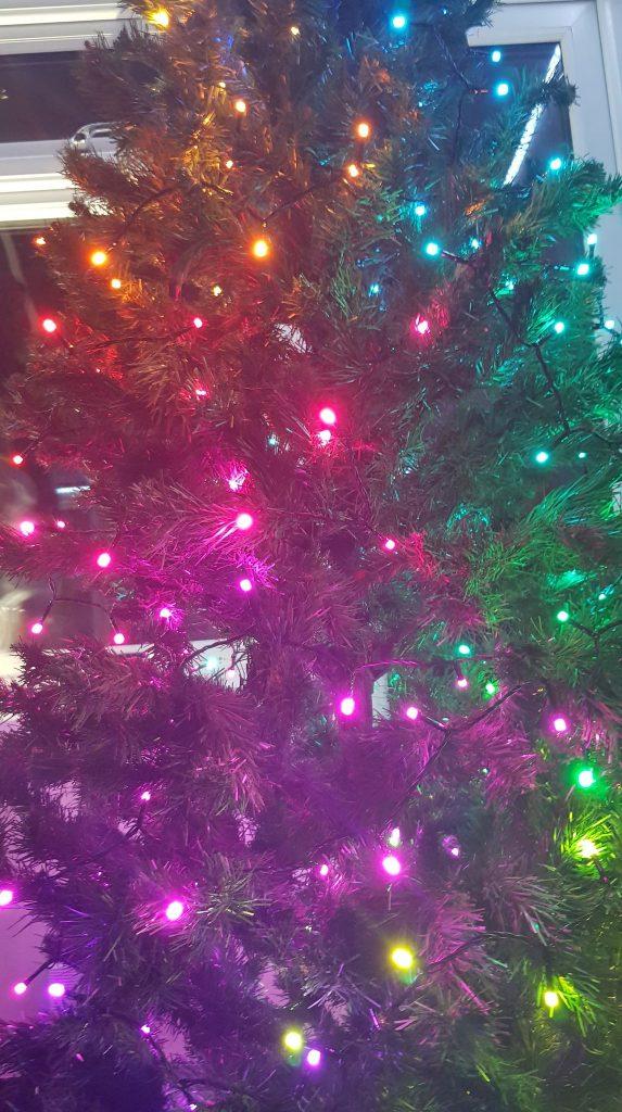 Luces de Navidad centelleantes