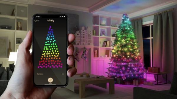 Iluminación navideña inteligente (árboles, luces de cadena, láseres y enchufes)