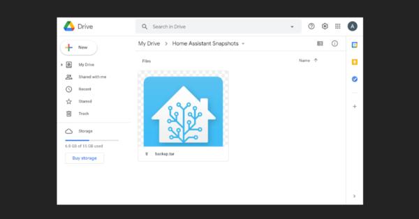 Hacer una copia de seguridad de Home Assistant con Google Drive
